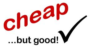 "image of ""cheap but good"" text"
